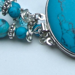 3 row bracelet with Turquoise and Howlite