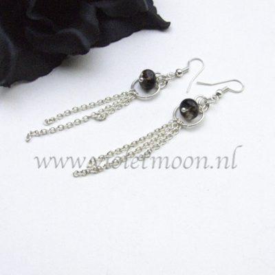 Lange Edelsteen Oorbellen / Long Gemstone Earrings