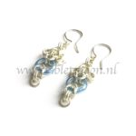 Chain maille oorbellen. Chain maille earrings from violetmoon.nl