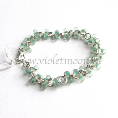 Armband met farfalle kralen / bracelet with farfalle beads from violetmoon.nl