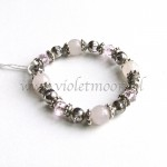 rozenkwarts armband / rose quarts bracelet from violetmoon.nl
