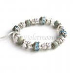 Aquamarijn Armband / Aquamarine Bracelet from violetmoon.nl