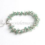 Armband met farfalle kralen / bracelet with farfalle beads from violetmoon.nl