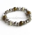 Dragon Vein Agaat Armband / Dragon Vein Agate Bracelet from violetmoon.nl
