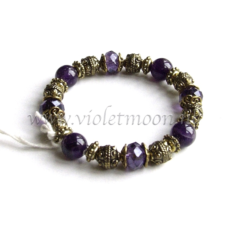 Ametist Armband / Amethyst Bracelet from violetmoon.nl
