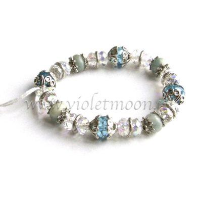 Aquamarijn Armband / Aquamarine Bracelet from violetmoon.nl