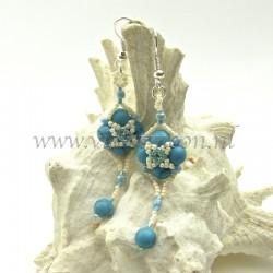 Follow me earrings tutorial sample with Turquoise