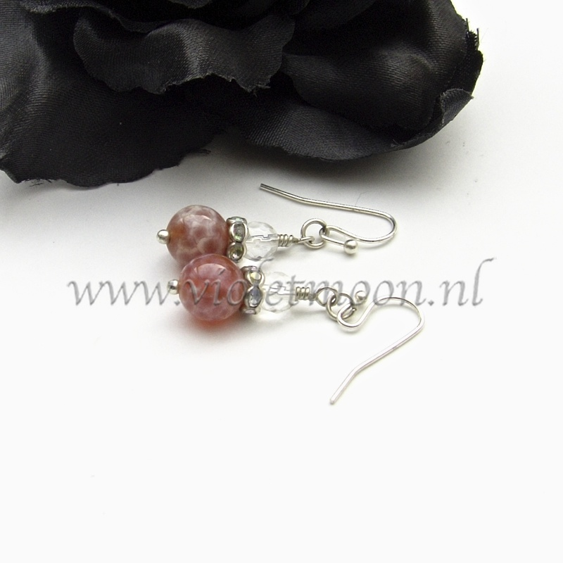 crab agate earrings