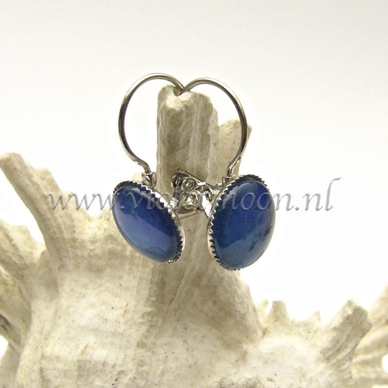 Vibrant Blue Kleurige Oorbellen / Colorful Earrings from violetmoon.nl