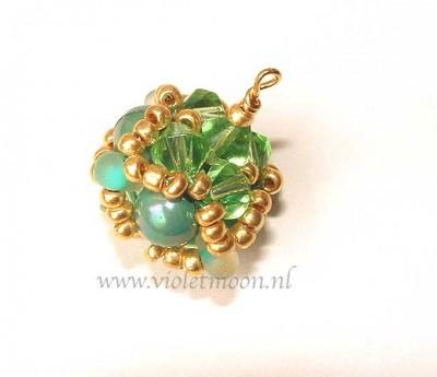 Baroc beaded bead handleiding/ baroc beaded bead tutorial from violetmoon.nl