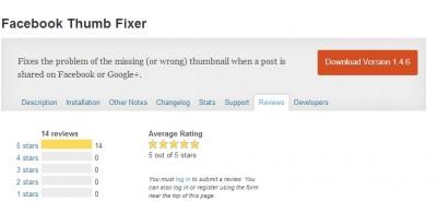Wordpress Plugins - Facebook Thumb Fixer