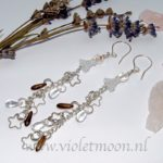 Lange Oorbellen Sterre / Long Earrings Sterre from violetmoon.nl