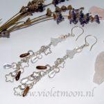 Lange Oorbellen Sterre / Long Earrings Sterre from violetmoon.nl