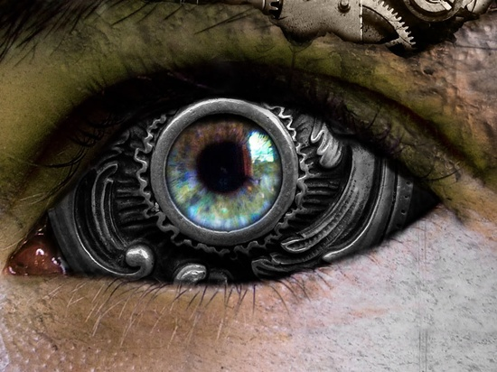 steampunk Mechanik eye