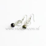Groene Jaspis oorbellen / Green Jasper earrings from violetmoon.nl