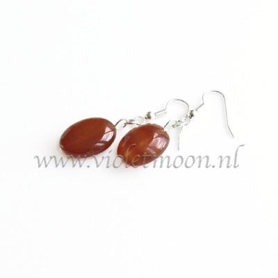 Carneool oorbellen / Carnelian earrings from violetmon.nl