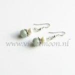 Aquamarijn oorbellen / Aquamarine earrings from violetmoon.nl