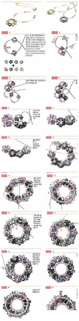 beaded flower ring pendant pattern