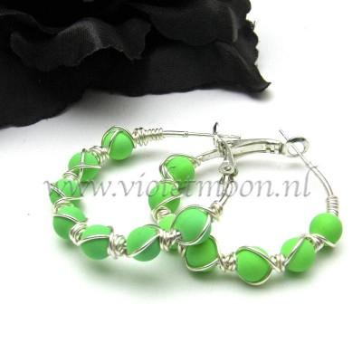 neon green hoops