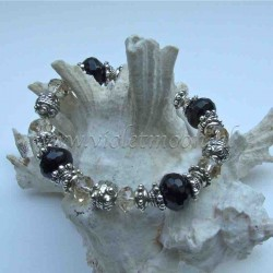 Onyx Bracelet on stretchy cord
