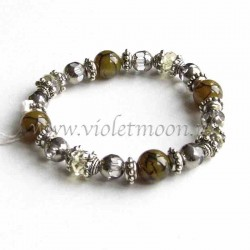 Green yellow Dragon Vein Agate bracelet