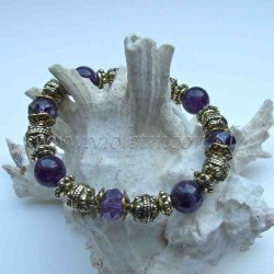 Amethyst bracelet gold colour