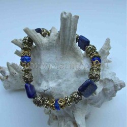 Lapis Lazuli bracelet gold colour