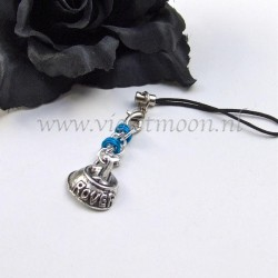cellphone straps with doggy bowl charms  blue