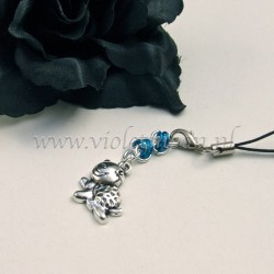 cellphone charms with happy turtle charms blue