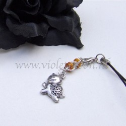 cellphone charms with happy turtle charms orange