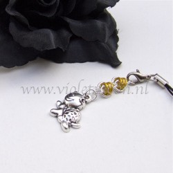 cellphone charms with happy turtle charms yellow