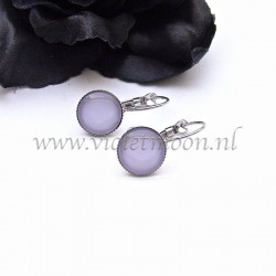 Colourful cabochon earrings Lush Lavender