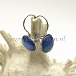 Colourful cabochon earrings Vibrant Blue