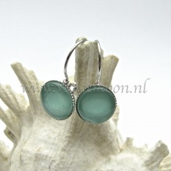 Colourful cabochon earrings Fizzy Sea Faom