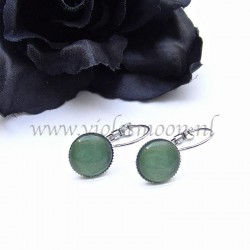 Colourful cabochon earrings Shiny Green