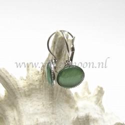 Colourful cabochon earrings Shiny Green