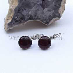 Colourful cabochon earrings Blood Red