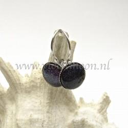 Colourful cabochon earrings Opulent Blue