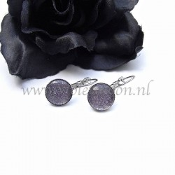 Colourful cabochon earrings Strictly Mauve