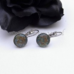 Colourful cabochon earrings Galaxy Glitz