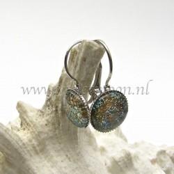 Colourful cabochon earrings Galaxy Glitz
