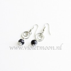 Black Water Jasper earrings