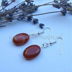 Carnelian earrings.