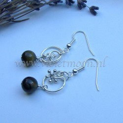 Green Jasper earrings