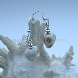 White Howlite skull earrings.