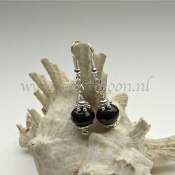 Onyx earrings.