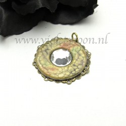 Handpainted stainless steel washer pendants
