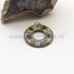 stainless steel washer butterlfy pendant