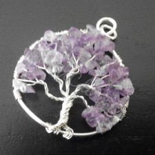 Tree of life, silver and Amethist