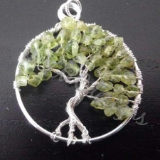 Tree of life, silver and Peridot